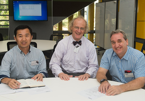 From left Hua Wang, Professor Martin Jarvis and Associate Professor Douglas Bell at the Engagement with China