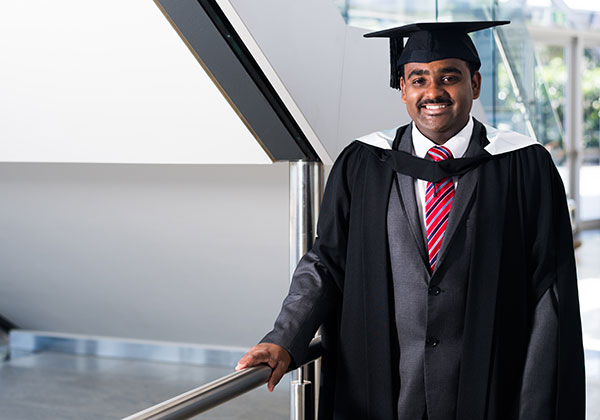 Master of Business Administration graduate Jovi Kuruvilla