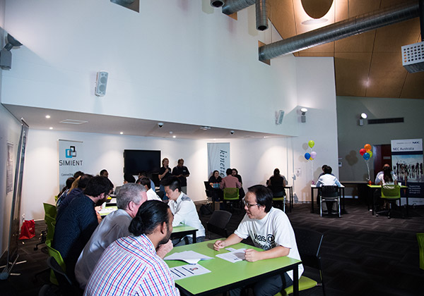 IT students meet potential employers at the speed date event