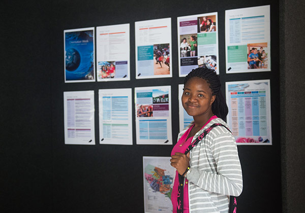 Student Yolanda Kanyai  finds out what's on during O-Week.