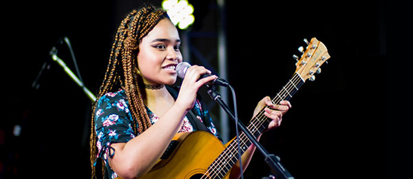 Ceenah's winning performance at Battle of the School Bands. Image: NT Music School