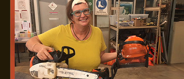 Horticulture lecturer Robyn Wing