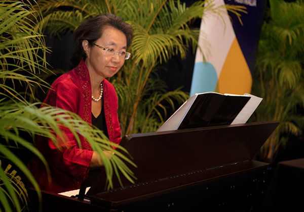 Chen Hui Tan performed at the celebration