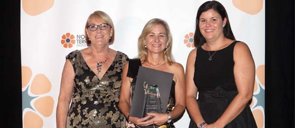 From left: Acting Chief Nurse and Midwifery Officer for the Department of Health Heather Keighley, award winner Cherie Whitbread, and Minister for Health Hon Natasha Fyles