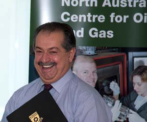Andrew Liveris said the scholarship and work placement would help train the future NT based engineers