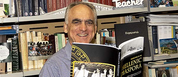 """Dr George Frazis reads a passage from Volume I of """"Perspectives on the Hellenic Diaspora"""""""