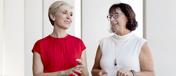 University Partnerships CEO Marnie Watson (left) and Provost of CDU Professor Sue Carthew