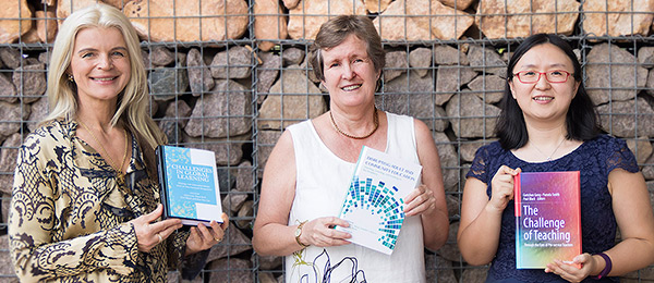 Dr Ania Lian (left), Professor Sue Shore and Dr Gretchen Geng