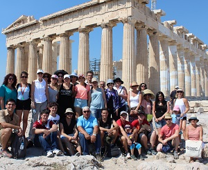 Participants during the 2015 CDU Greek In-Country Language Program