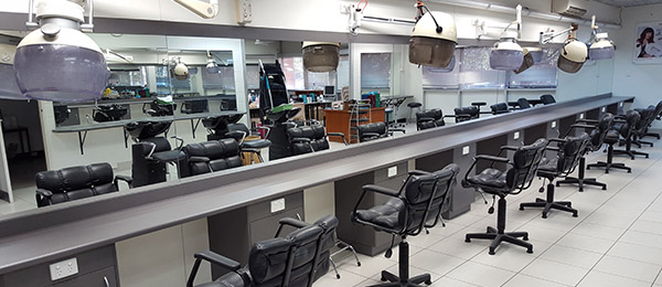 The revamped salon at Alice Springs campus