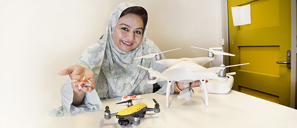 Pi in the sky: Dr Farha Sattar is using drones in her Experiential Learning and STEM Education project