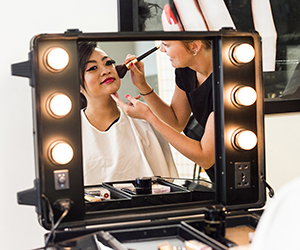 Beauty Therapy students Daphne Vergara and Zaynah Djawas have taken part in NT Fashion Week