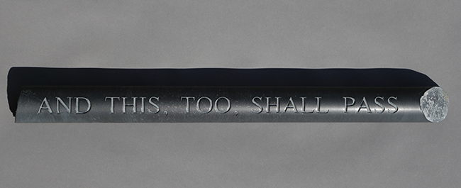"""Artist Lee Harrop's winning entry in the Footscray Art Prize """"And this, too, shall pass"""""""