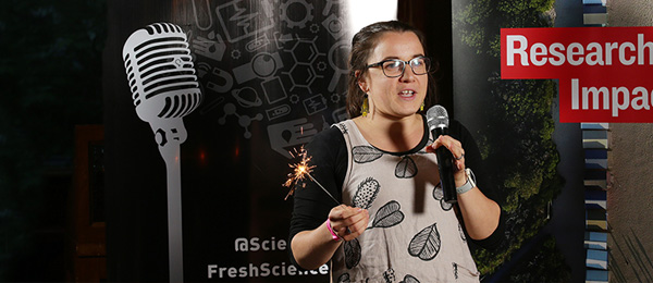 """PhD candidate Rebecca Rogers was judged the """"Bright Spark"""" at a Fresh Science event in Melbourne"""