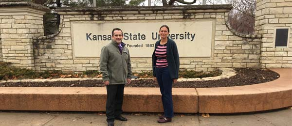 Professor Ruth Wallace with Gregg Hadley from the Research and Extension team at Kansas State University