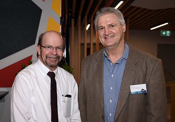 Vice-Chancellor Professor Simon Maddocks and Bill Sankey
