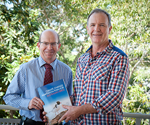Vice-Chancellor Professor Simon Maddocks and Professor Stephen Garnett at the book launch