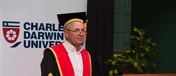 Chancellor Neil Balnaves AO will oversee graduation events in Adelaide and Alice Springs