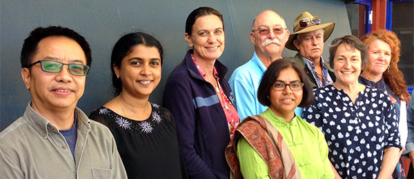 Professor Ruth Wallace (third from left) with Northern Institute staff from Alice Springs