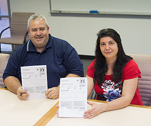 Kaleopy Kypreos and Ioannis Karavokiros participated in the exams at CDU