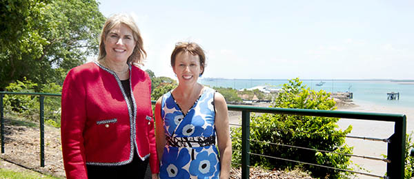 Minister for Environment and Natural Resources Eva Lawler and Chair of the Darwin Harbour Advisory Committee, and Co-Director of RIEL at CDU Professor Karen Gibb