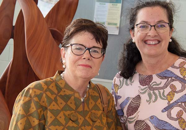 The Hon Jan Aagaard (left) and Stacey Henderson