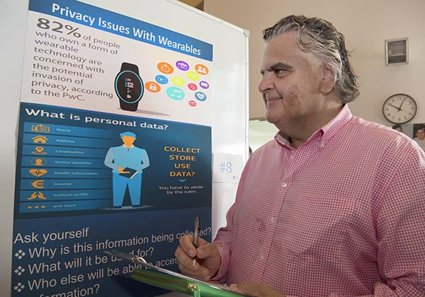 VTG operations manager Martin Thomason takes on his role as a code fair judge