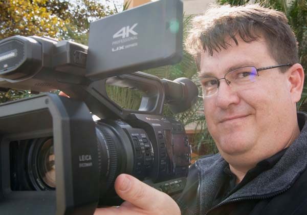 Learning Technologist Paul Irving captures the training exercise on camera