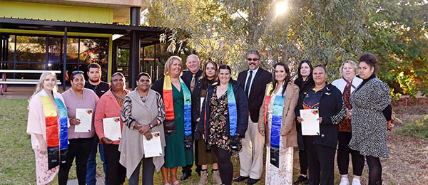 Vice-Chancellor Scott Bowman and Pro Vice-Chancellor, Indigenous Leadership Rueben Bolt attended the Indigenous Valedictory Ceremony in Alice Springs last week.