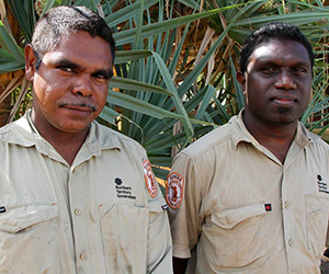 Darwin rangers Keith Hayes and Leo Goodman have completed training in conservation and land management at CDU