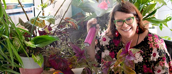 Horticulture Lecturer Robyn Wing says everyone can learn from the adaptability of house plants