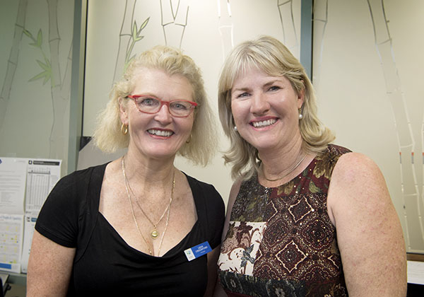 Leanyer Primary School Principal Leah Crockford (left) and NT Education Minister Eva Lawler
