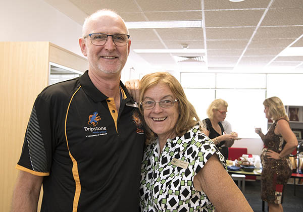 Dripstone Middle School Principal Peter Swan with Woodroffe Primary School Principal Sharon Reeves