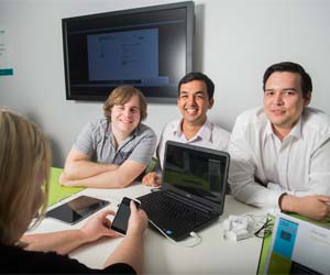 IT students Aden Herold, Farzhand Ali and Joseph Packer won Best Undergraduate Team and an Innovation Prize