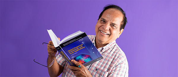 Professor Singh with his recently released edited book