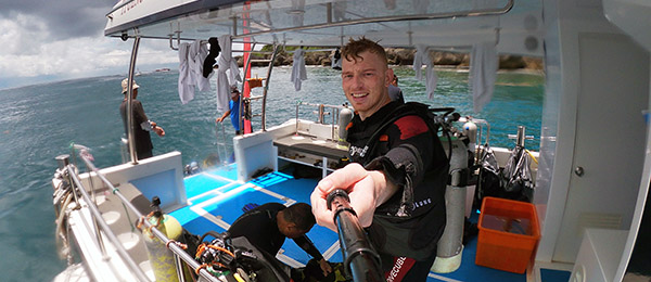 CDU student Jason Wilmot documents his diving tour in the south of Taiwan