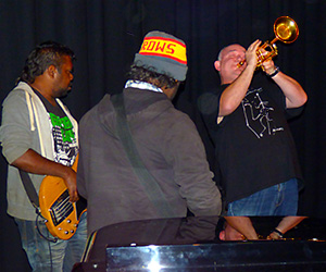 James Morrison with Hermannsburg Band members