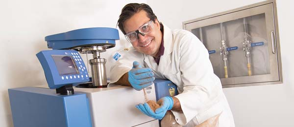 """Dr Jeremy Trombley is using the calorimeter in his work on """"green energy"""""""