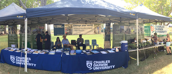 CDU's School of Primary Industries held a stall at Farm and Garden Day in Katherine