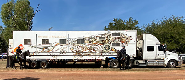 CDU's Mobile Adult Learning Unit (MALU) was at the Barunga Festival over the June long weekend