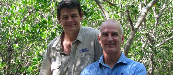 Professor Lindsay Hutley and NTG Director of ecosystems Tony Griffiths will work to understand the threats posed by climate change