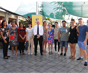 NT Medical Program students with Vice-Chancellor Professor Simon Maddocks (centre)