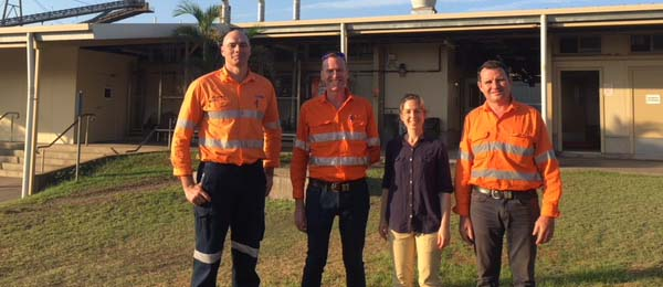 Thermal physiologist Matt Brearley, MRM Safety Superintendent Stephen McGruddy, epidemiologist Emma Field and NRM General Manager Sam Strohmayr