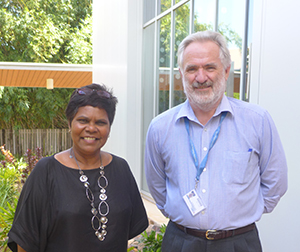 The new co-patron of Menzies' Centre for Child Development and Education, Dr Marion Scrymgour, with the centre's director, Professor Gary Robinson