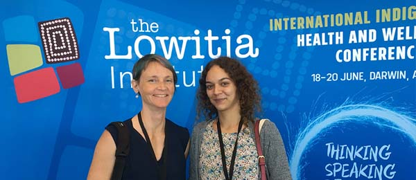 Menzies researchers Dr Jo Wapling and Taylah Church presented at the conference on Enabling a Traditional Australian Medicinal Plants Agribusiness