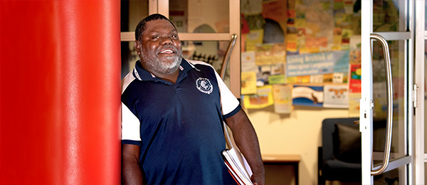 Stephen Dhamarrandji is one of the first people to achieve an Indigenous Community-based Researcher micro-credential
