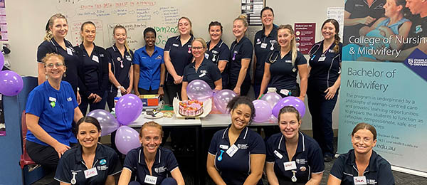 First year Bachelor of Midwifery students celebrate International Day of the Midwife