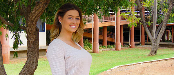 Nursing student Brooke Schembri, one of two CDU students in the Miss Universe Australia final