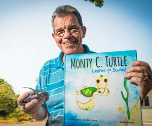 Sea turtle expert Dr Mick Guinea has co-authored an educational book that gives children a lesson in sea turtle biology