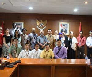 A group of CDU law students visiting the Anti-Corruption Agency in Jakarta
